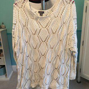 Eddie Bauer knit sweater w/ tan built-in tank